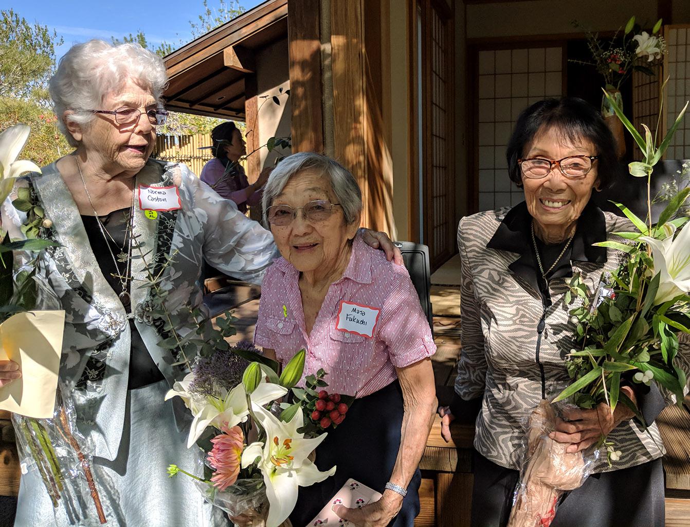 Norma Caston, Masa Fukuchi, Sumiye Nishida