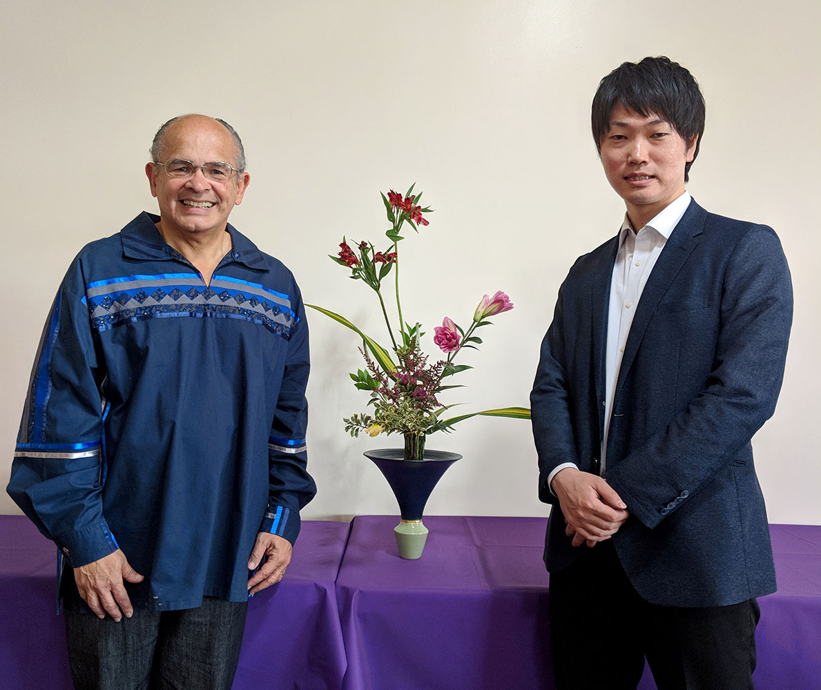 John Zerio and Professor Takabayashi