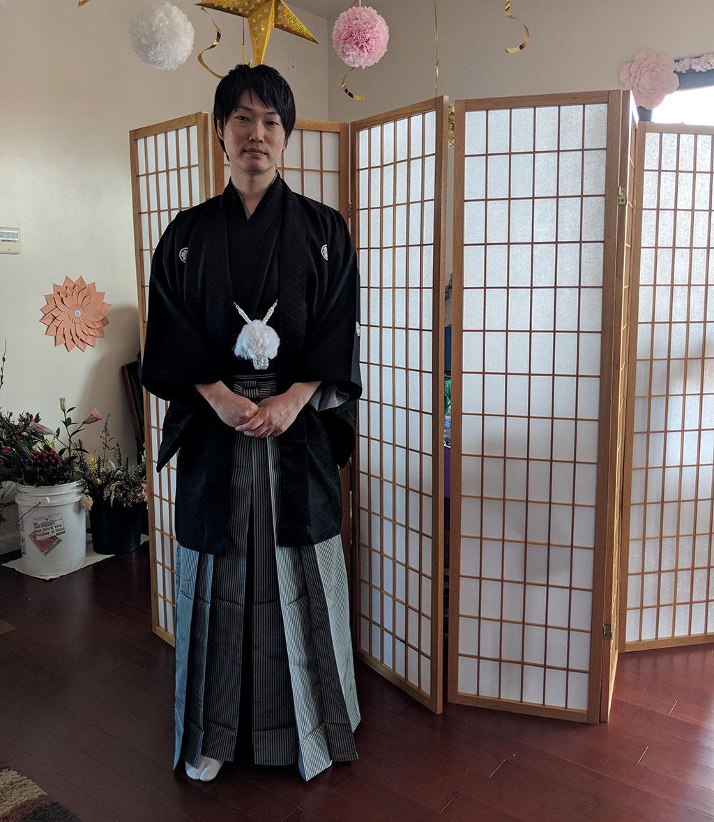Professor Takabayashi in kimona
