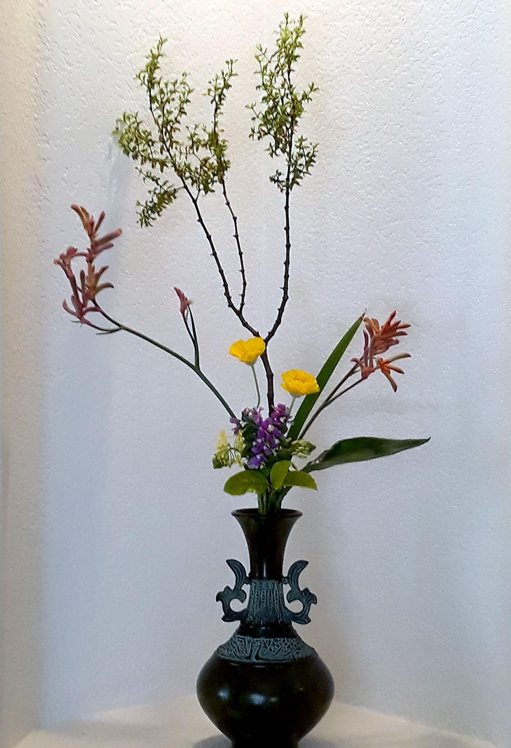 03-19-2020 Ikenobo Ikebana Tatehana Workshop Lesson